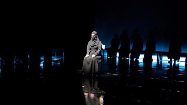 Syria Trojan women on stage Water Futures_Cynthia